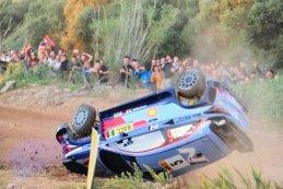 Neuville over de kop in Spanje tijdens de shakedown