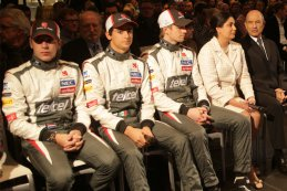 Robin Frijns - Esteban Gutiérrez - Nico Hülkenberg - Monisha Kaltenborn - Peter Sauber