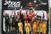 De podiums van de 24 Hours of Zolder 2021