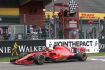 Net als Schumacher pakte ook Vettel zege 52 in Spa