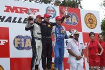 Sam Dejonghe scoort eerste overwinning in MRF Challenge