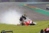 GP3: België: Aleksander Bosak crasht loeihard in Blanchimont (+ Foto's)