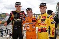 F3 Euro: Pau: Tom Blomqvist en Felix Rosenqvist houden Esteban Ocon van de zege