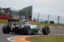 België: Mercedes blijft op kop in tweede vrije training