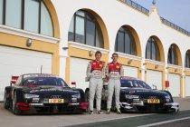 Audi Sport test met Mattias Ekström en Jamie Green in Monteblanco