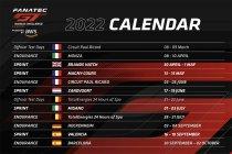 SRO maakt kalender GTWCE bekend voor 2022