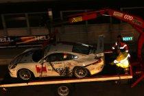Newsflash: 24H Zolder: Zware crash zorgt voor eerste safety car