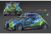 Een goud-groene livery voor de VW Fun Cup n°299 'DRM-Gillion'