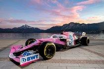 Racing Point toont roze RP20 met BWT als hoofdsponsor