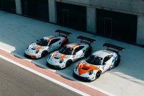 Retro getint kleurenschema voor GPX Racing Porsches