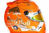België: Helm Verstappen kleurt opvallend oranje