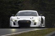 Vier Audi R8 LMS GT3's aan de start van 24u Spa & Nürburgring