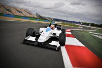 Formule E: Di Grassi geeft demo in de straten van Los Angeles