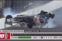 Video: Zware crash voor Sébastien Bourdais bij kwalificaties Indy 500