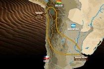 Het parcours van de Dakar-rally 2015
