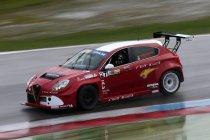 Mettet: Philippe Ménage aan het stuur van de Alfa Romeo Giulietta