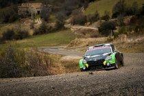 Cédric De Cecco aan de start van de Rally van Kroatië