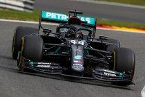België: Hamilton dominant op pole positie