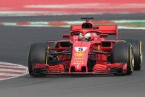 Wintertesten Barcelona: Vettel dicht bij poletijd 2017
