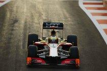 De HRT Formule 1 bolides terug naar de racepiste