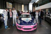 Foto's: Tom Boonen, Anthony Kumpen en Bert Longin presenteren Belcar-Porsche