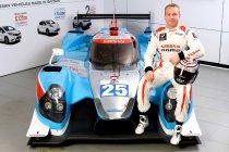 Ex-baanwielrenner Sir Chris Hoy aan de start in Le Mans