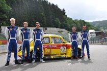 Het VW-sterrenteam klaar voor de 25 Uren VW Fun Cup