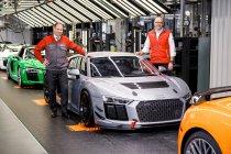 Al 50 exemplaren van de Audi R8 LMS GT4 afgeleverd