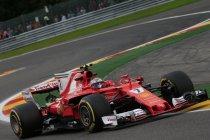 België: Ferrari snelst in laatste training - Vandoorne veertiende