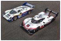 Iconische Porsche's 956 C en 919 Hybrid Evo ontmoeten elkaar op de Nürburgring