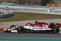 Alfa Romeo ook snel in tweede F1-testweek