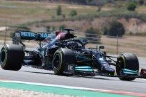 Portugal: Hamilton met enige moeite voor Verstappen