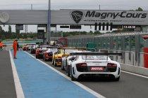 Magny-Cours: Overwinning van de Saintéloc Audi R8 LMS ultra - opgave voor de WRT Audi