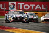 24H Spa: Na 17H: Mercedes aan kop ondanks aanrijding - Lambo out