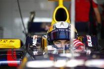 Pierre Gasly test voor Toro Rosso