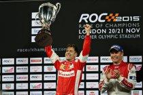 Sebastian Vettel wint de Race of Champions