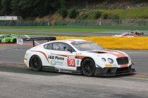 Bentley en Audi vooraan op de testdag