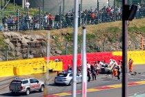 6H Spa: Fittipaldi breekt benen bij crash (UPDATE)