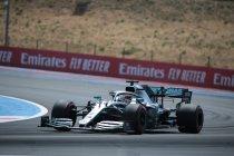 Frankrijk: Mercedes dominant op eerste startrij