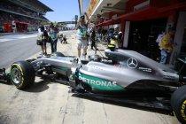 Spanje: Opnieuw Rosberg in de derde vrije training.