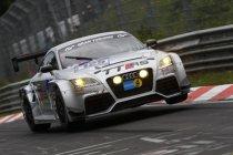 Ronnie Latinne met steun van Belgian Audi Club met Audi TT-RS n°1 in de VLN