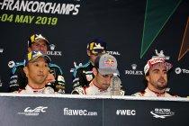 """6H Spa: Alonso: """"Nu naar Le Mans voor een tweede zege"""""""
