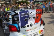 Ogier pakt vierde wereldtitel in Spanje. Neuville naar 2de positie