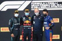Emilia Romagna: Verstappen wint onderbroken spektakelstuk