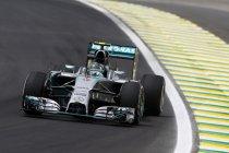 Brazilië: Vrije trainingen: Rosberg sneller dan Hamilton