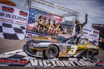 Frederic Gabillon mikt in 2020 op de NASCAR Whelen Euro Series titel