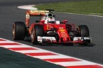 Spanje: Ferrari een-twee in eerste training - Verstappen zesde