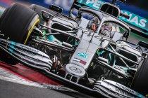 Hamilton scheept Vettel af in Mexico
