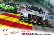 70 GT3's op voorlopige deelnemerslijst 24H Spa - Poster en timing bekend
