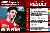 Leclerc domineert bij sim-debuut
